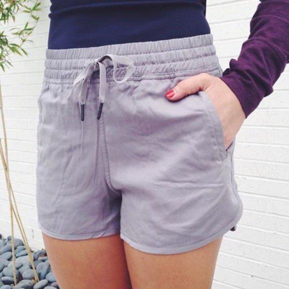 EUC Lululemon Varsity Shorts *Tencel*